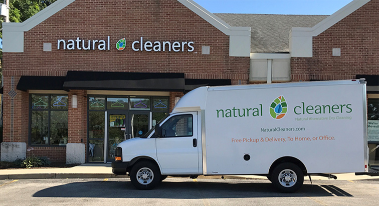 dry cleaning delivery truck in Waukesha