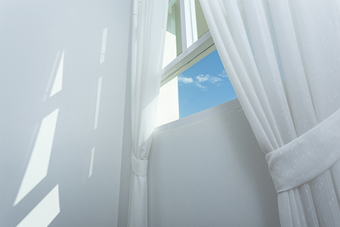 dry cleaned curtains
